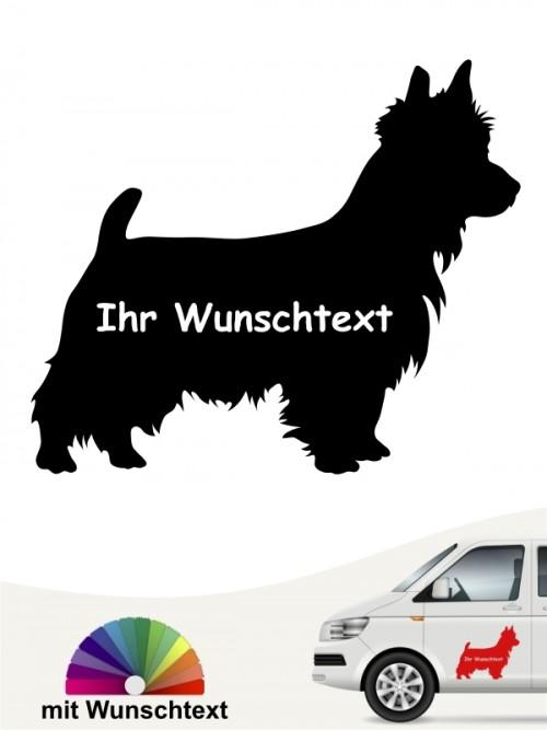 Australian Terrier Hundeaufkleber mit Wunschtext anfalas.de