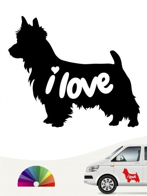 Australian Terrier i love Aufkleber anfalas.de