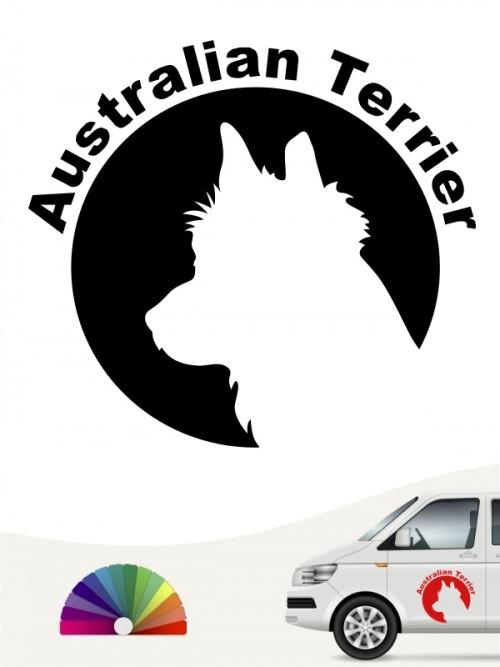 Australian Terrier Hundeaufkleber von anfalas.de