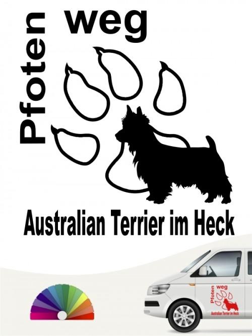 Pfoten weg Australian Terrier im Heck Aufkleber anfalas.de