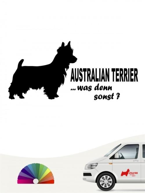 Australian Terrier was denn sonst Aufkleber anfalas.de