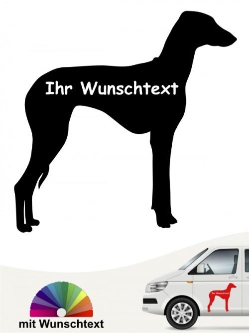 Azawakh Silhouette mit Wunschtext Autosticker anfalas.de