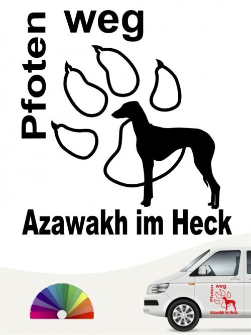 Azawakh Pfoten weg Hundeaufkleber anfalas.de