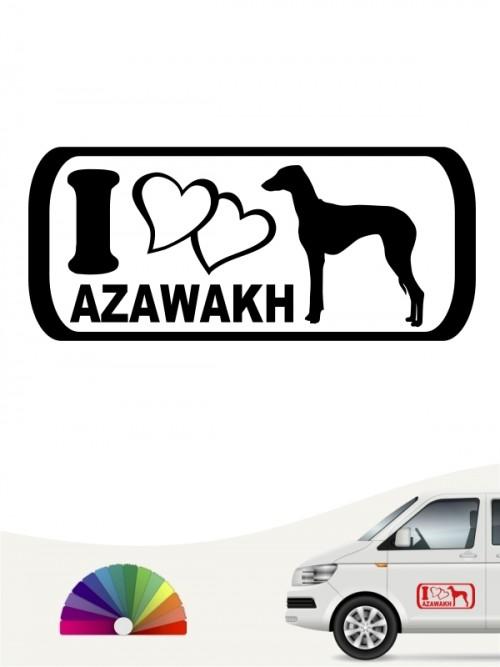 Azawakh I Love Hundeaufkleber anfalas.de