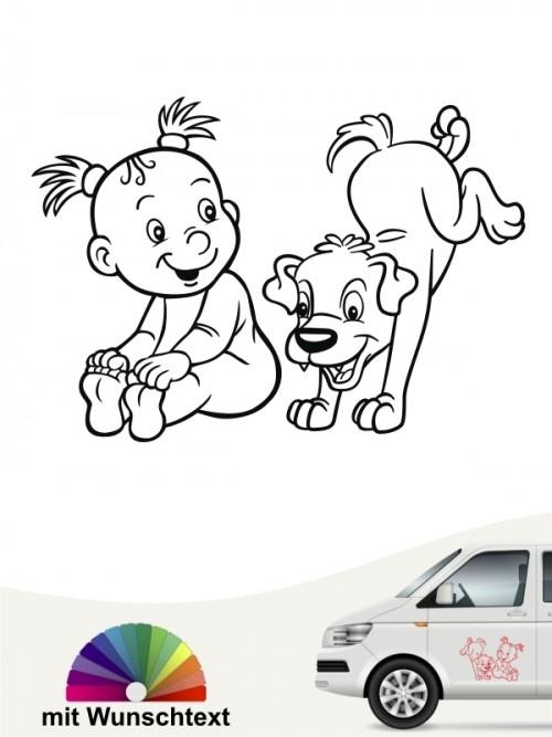Hunde-Autoaufkleber Kind & Hund 18 von Anfalas.de