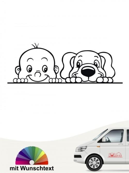 Hunde-Autoaufkleber Kind & Hund 2 von Anfalas.de