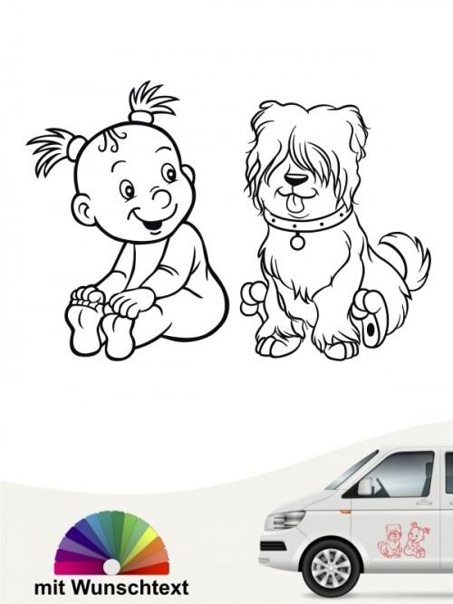 Hunde-Autoaufkleber Kind & Hund 23 von Anfalas.de