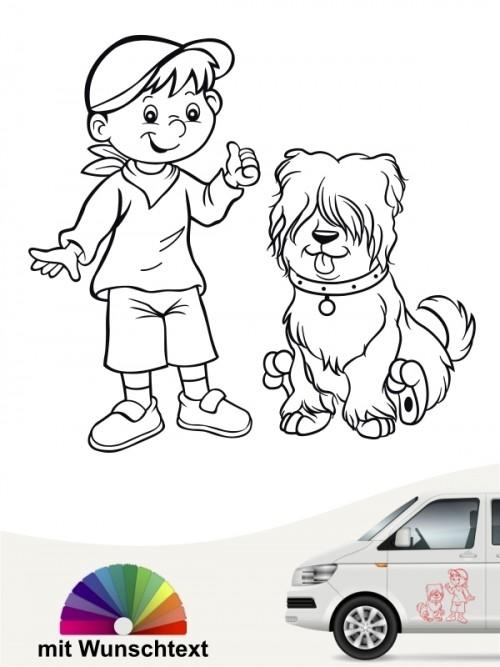 Hunde-Autoaufkleber Kind & Hund 25 von Anfalas.de