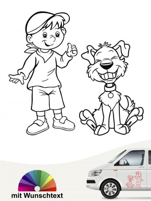 Hunde-Autoaufkleber Kind & Hund 28 von Anfalas.de