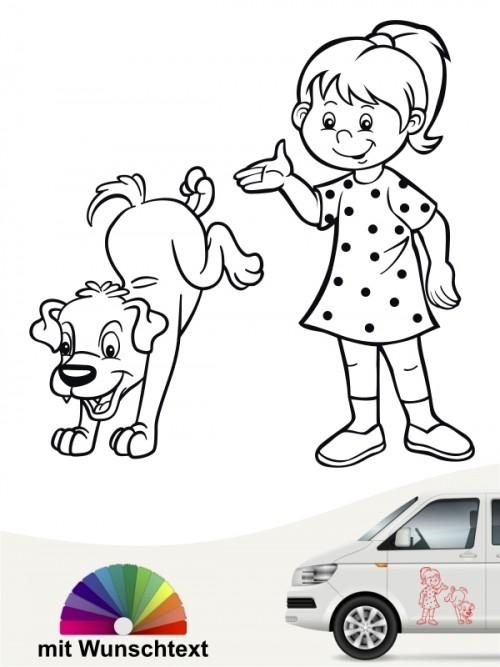 Hunde-Autoaufkleber Kind & Hund 30 von Anfalas.de