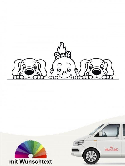 Hunde-Autoaufkleber Kind & Hund 32 von Anfalas.de
