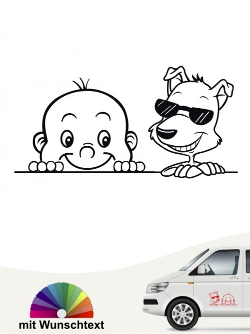 Hunde-Autoaufkleber Kind & Hund 35 von Anfalas.de