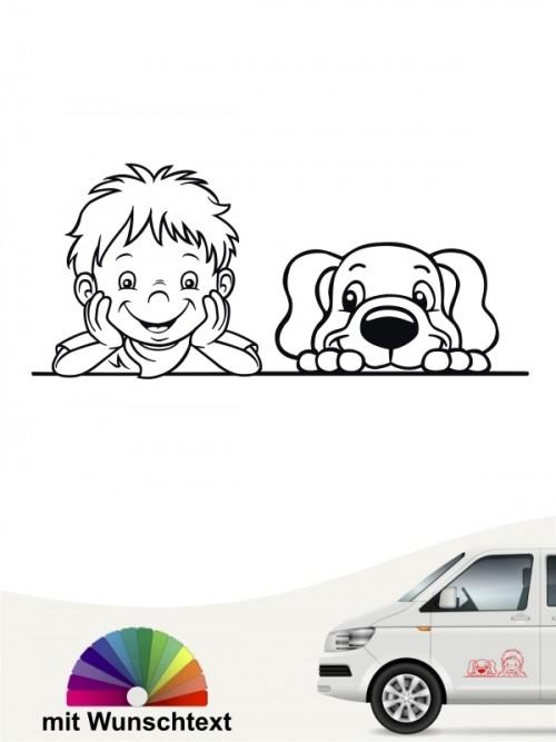 Hunde-Autoaufkleber Kind & Hund 37 von Anfalas.de