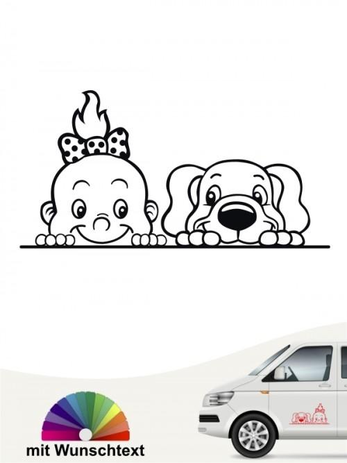 Hunde-Autoaufkleber Kind & Hund 4 von Anfalas.de