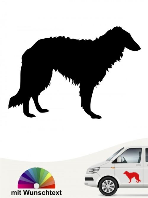 Barsoi Hundeaufkleber mit Text anfalas.de