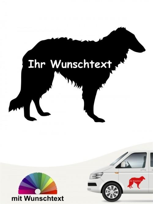 Barsoi Silhouette mit Wunschtext anfalas.de