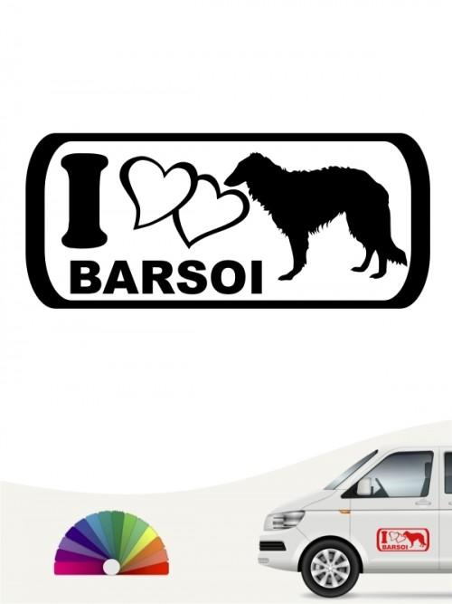 I Love Barsoi Hundeaufkleber anfalas.de