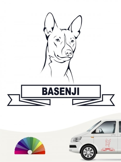 Hunde-Autoaufkleber Basenji 15 von Anfalas.de