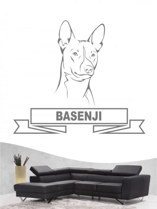 Hunde-Wandtattoo Basenji 15 von Anfalas.de