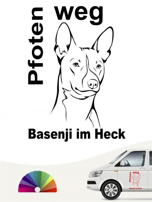 Basenji Pfoten weg Kopfmotiv Aufkleber anfalas.de