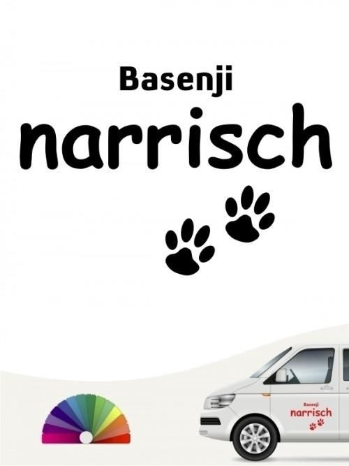 Hunde-Autoaufkleber Basenji narrisch von Anfalas.de