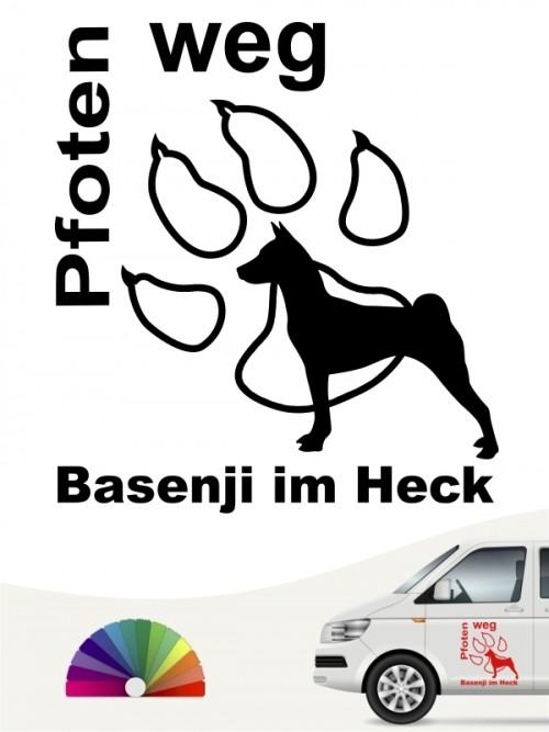 Pfoten weg Basenji im Heck Aufkleber anfalas.de