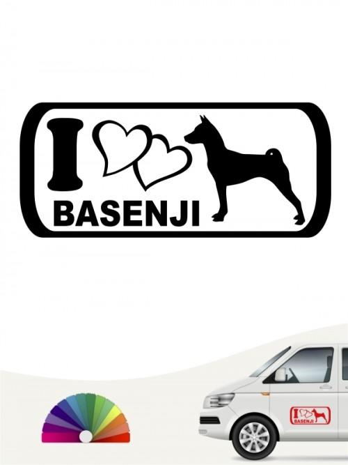 I Love Basenji Heckscheibenaufkleber anfalas.de