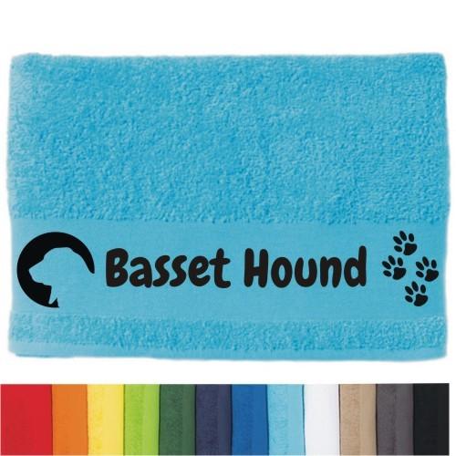 """DOG - Handtuch """"Basset Hound"""" von anfalas.de"""
