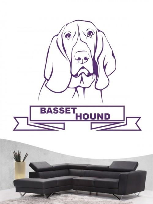 Hunde-Wandtattoo Basset Hound 15 von Anfalas.de