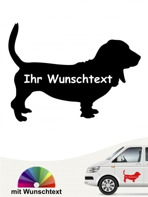 Basset Hound Silhouette mit Namen anfalas.de