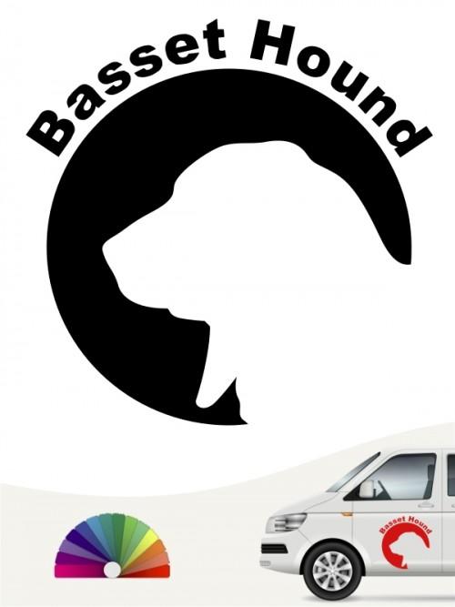Basset Hound Hundeaufkleber von anfalas.de