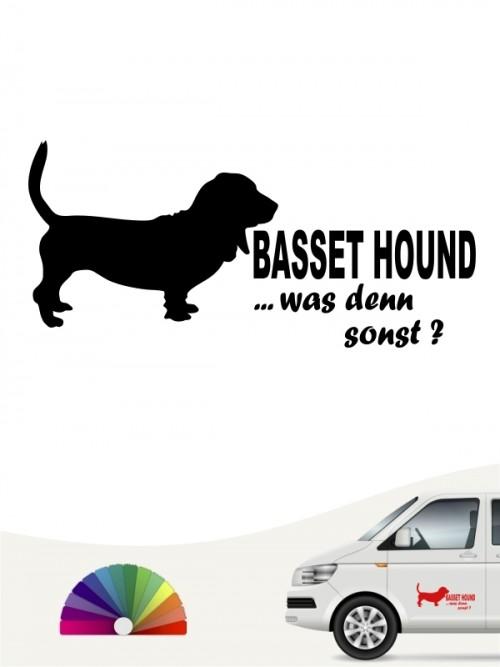 Basset Hound was denn sonst Aufkleber anfalas.de