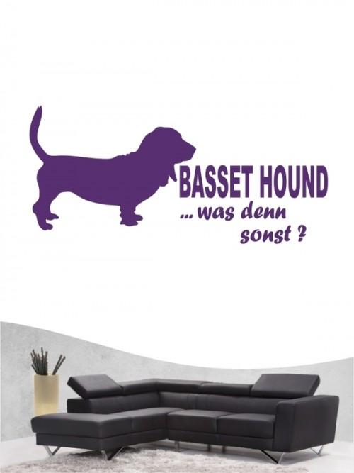 Basset Hound 7 - Wandtattoo