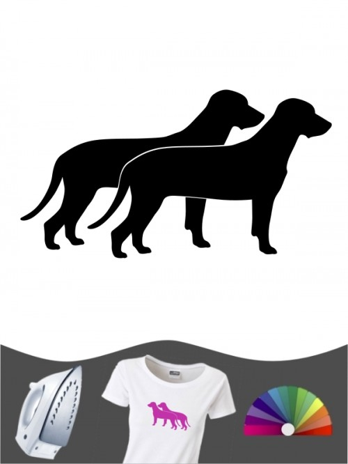 Bayerischer Gebirgsschweißhund 2 - Bügelbild