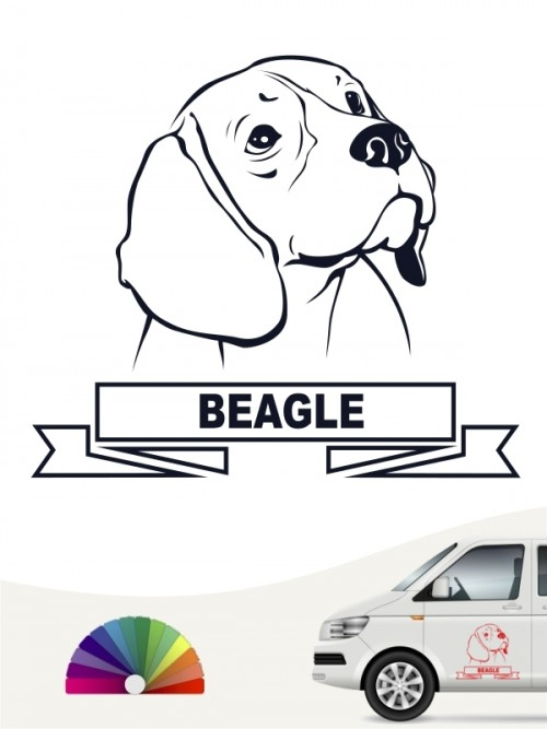 Hunde-Autoaufkleber Beagle 15 von Anfalas.de
