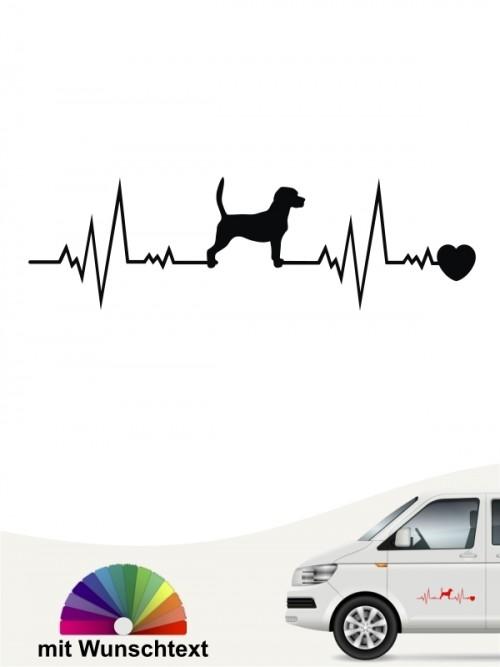 Beagle Hundeaufkleber mit Wunschtext von anfalas.de