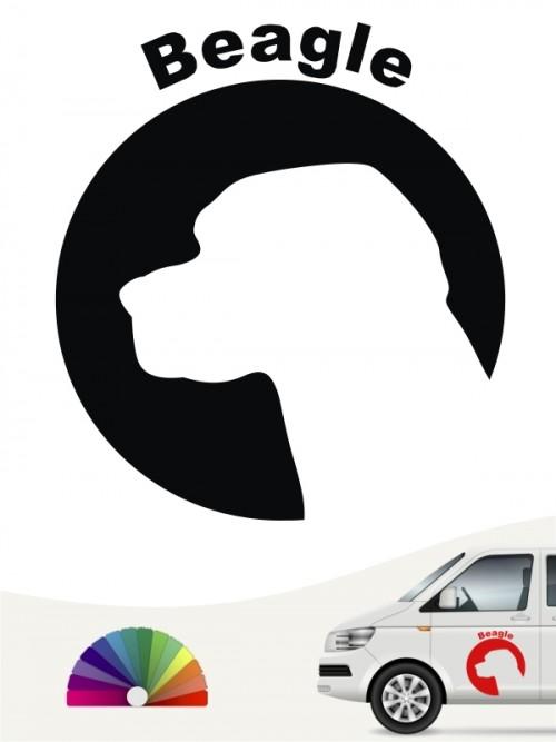 Beagle Aufkleber anfalas.de