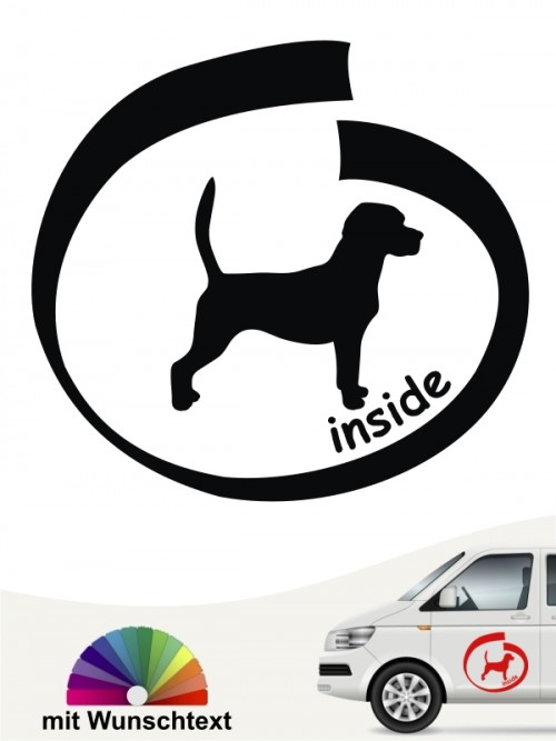 Beagle inside Hundeaufkleber anfalas.de