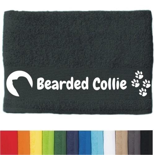 """DOG - Handtuch """"Bearded Collie"""" von anfalas.de"""