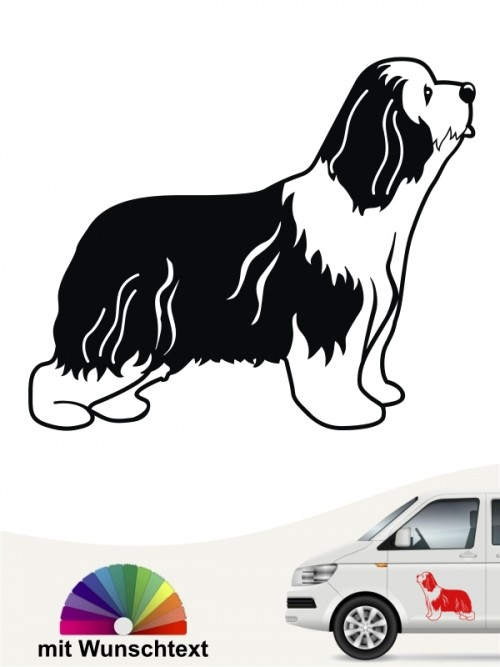 Hunde-Autoaufkleber Bearded Collie 13 von Anfalas.de