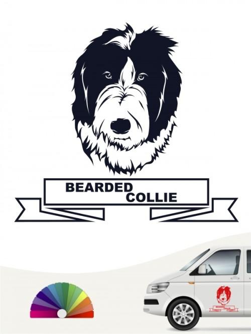 Hunde-Autoaufkleber Bearded Collie 15 von Anfalas.de