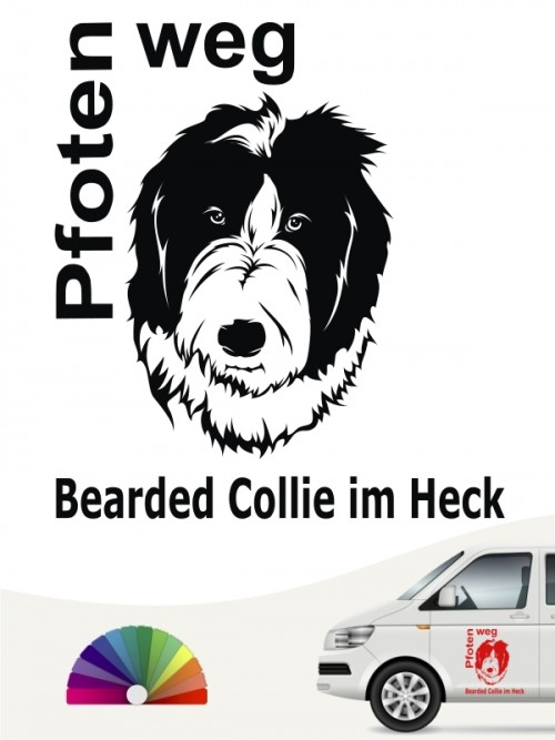 Bearded Collie Pfoten weg Aufkleber von anfalas.de