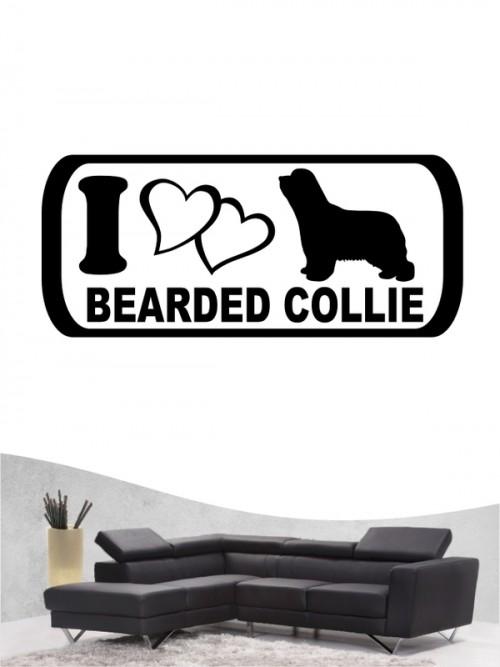 Bearded Collie 6 - Wandtattoo