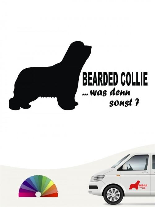 Was denn sonst Bearded Collie Autosticker anfalas.de