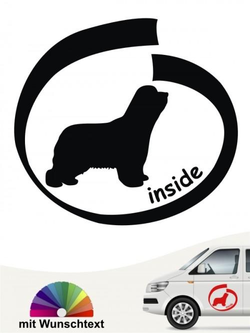 Beagle inside Hundeaufkleber mit Wunschtext anfalas.de