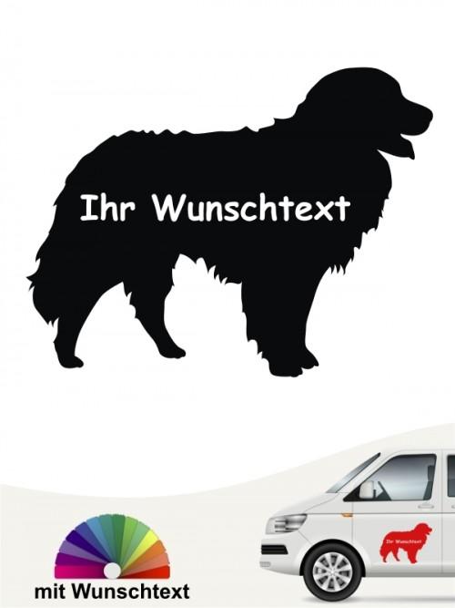 Berner Sennenhund Silhouette mit Wunschtext anfalas.de
