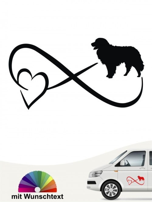 Berner Sennenhund Autoaufkleber mit Wunschtext von anfalas.de