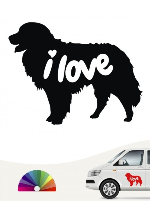 Berner Sennenhund i love Aufkleber anfalas.de