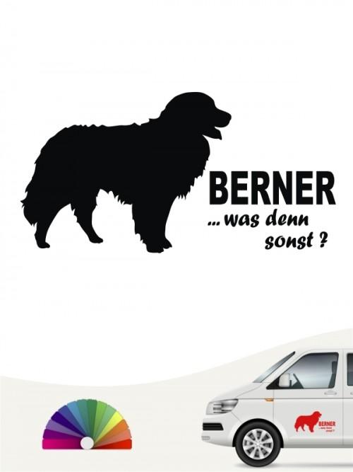 Berner was denn sonst Hundeaufkleber anfalas.de