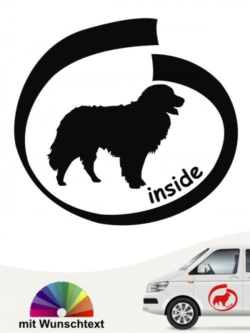 Inside Berner Sennenhund Autosticker mit Wunschtext anfalas.de